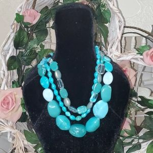 3 Strand Turquoise Necklace
